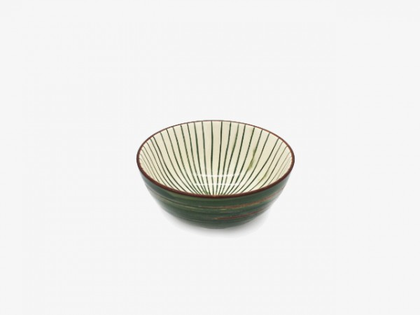 4.3SHW Hand-painted stripped bowl 11x5cm 10pcs