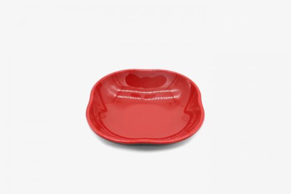 HMAMHD5.3  Red melamine mini plates13x13cm 48pcs