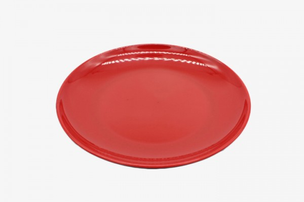 HMAYP10 Red melamine plates diammeter 25cm 12pcs