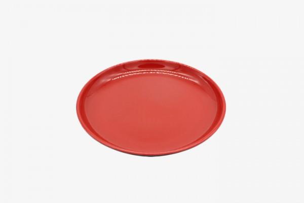 HMAYP8 Red melamine round plates Diameter 20cm 12pcs