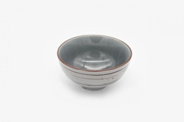 4.5寸 手工刷毛裂纹小脚碗 浅灰色 11.25 cm 10个