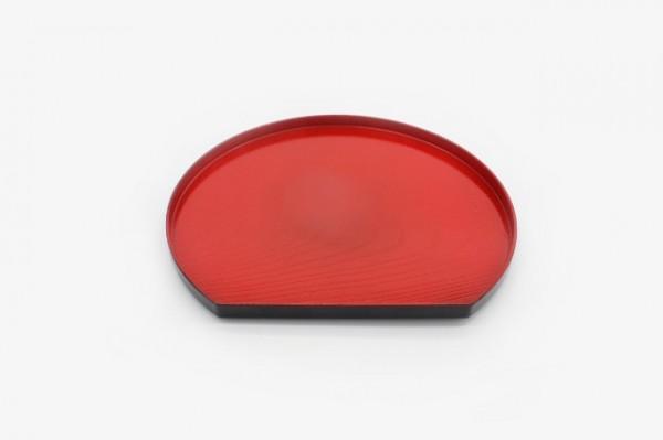 GDBYTPR 红色官岛半月托盘 22.5x20cm
