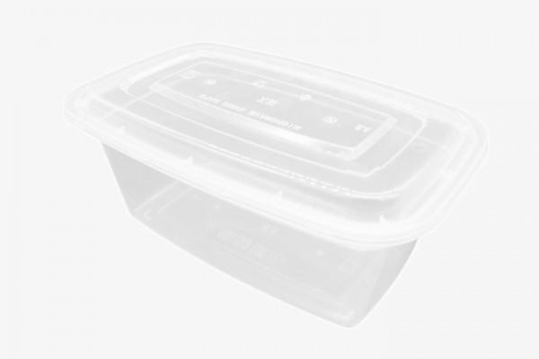 PP2000 塑透明微波方盒带盖 150只