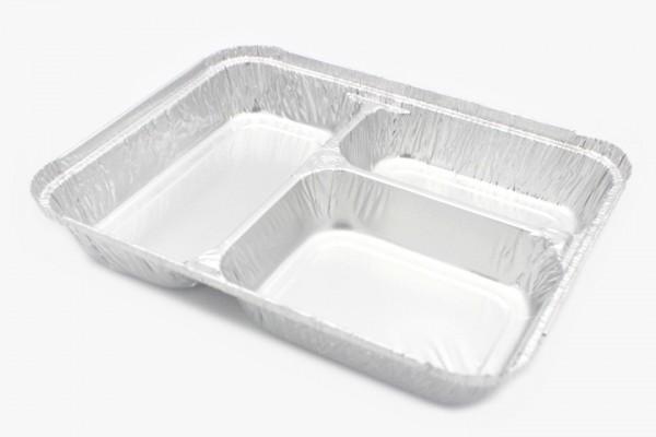 R81L 铝箔打包盒 三格盒 可加盖 400只