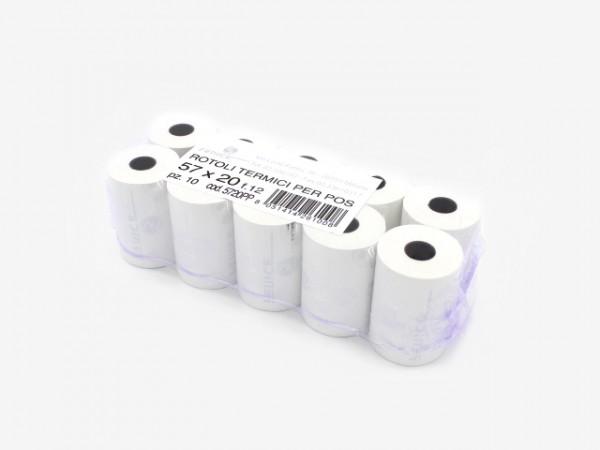 CS5720 刷卡机油墨纸 57mmx20m 100个