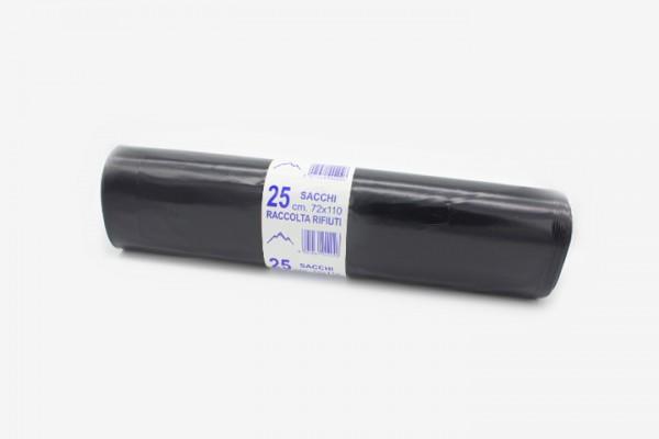 HL72N 黑色垃圾袋 72x110cm 250只