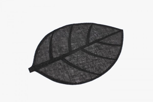 HSYZD 黑色树叶无纺布桌垫 30x45cm 20张