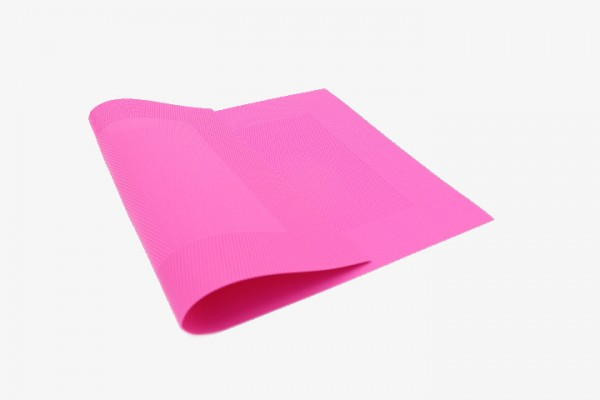 MHXFK 玫红色小方框塑料桌垫 30x45cm 20张