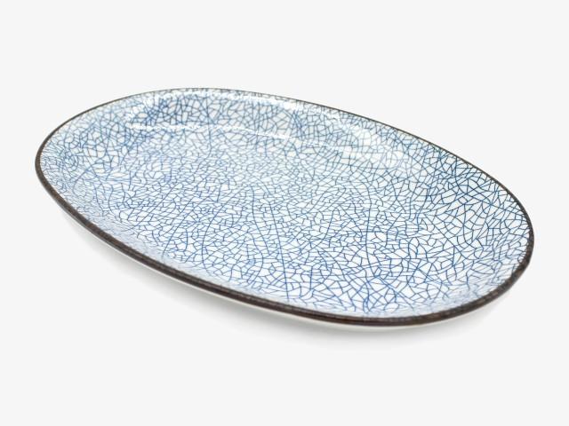 12TYP 冰裂椭圆盘 30x20cm 2个