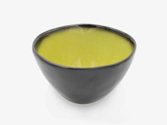 5.75JHLMW 金黄绿面碗 15x10cm 4个