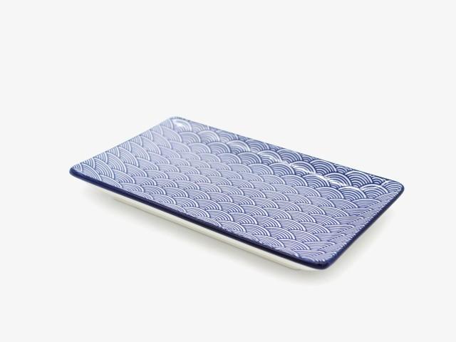 7.85SBWCFP 水波浪纹长方盘 20x11.5cm 6个