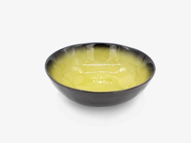 9JHLYXW 金黄绿异型碗 23x9cm 3个