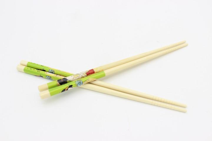 BSLL 本色绿彩仙女筷 100双