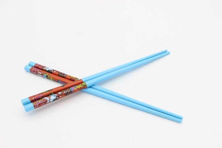 QLCD 浅蓝色彩单仙女筷 100双