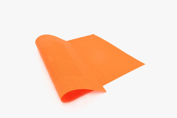 CXFK 橙色小方框塑料桌垫 30x45cm 20张