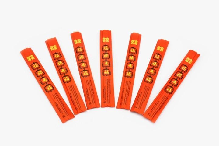 HTK23 传统紅套竹筷 23x3cm 2000双