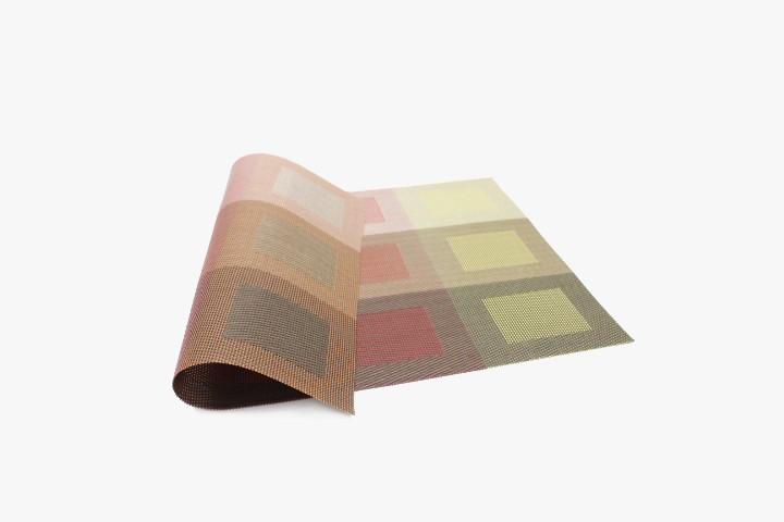 JBS12GH 红绿渐变色12方格塑料桌垫 30x45cm 20张