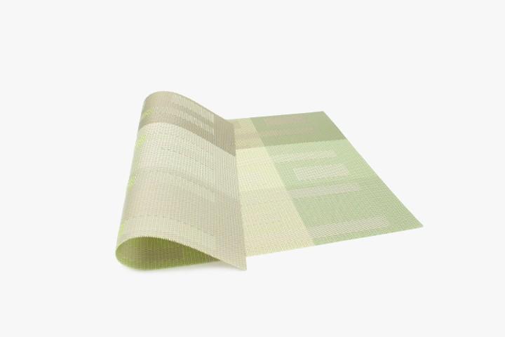 JGTW 绿灰格条纹塑料桌垫 30x45cm 20张