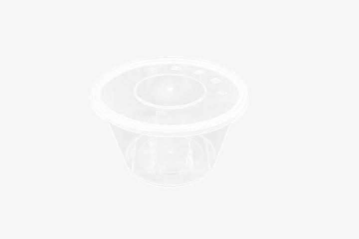 PP1000G 塑料透明微波圆盒带盖 300只