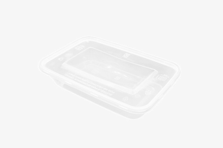 PP500 塑透明微波方盒带盖 300只