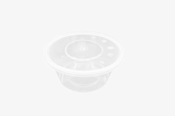 PP750G 塑料透明微波圆盒带盖 300只