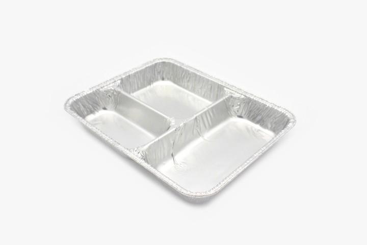 RSC2 铝箔打包盒 三格无盖 800只