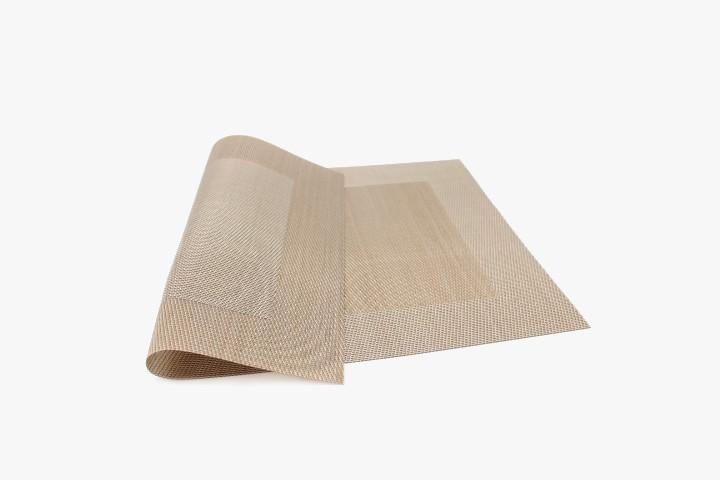 SLXFK 沙粒色小方框塑料桌垫 30x45cm 20张