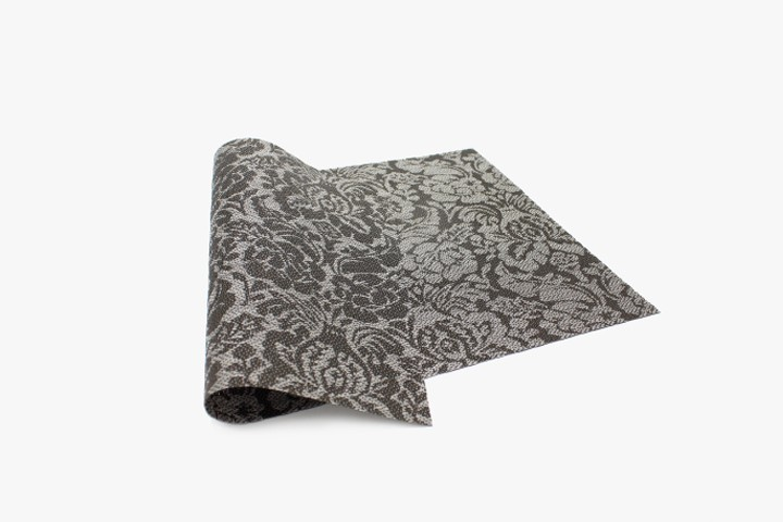 YHMGH 银黑玫瑰花塑料桌垫 30x45cm 20张