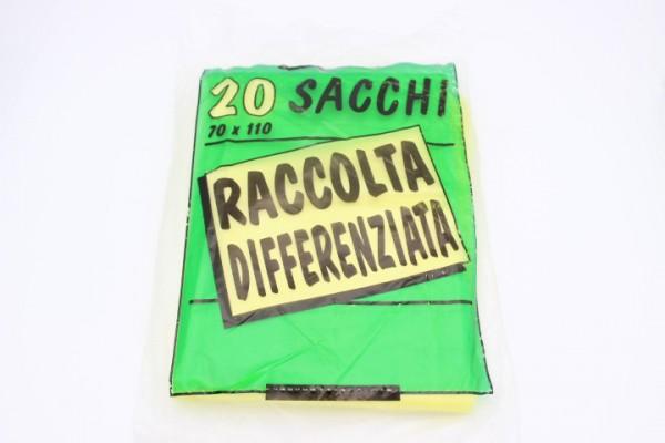 BHT70 黄色垃圾分类袋 400只 70x110cm 0.2g