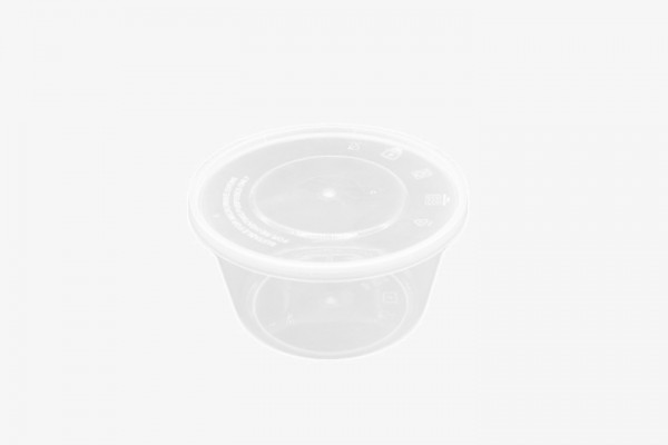 PP450G 塑料透明微波圆盒带盖 450只
