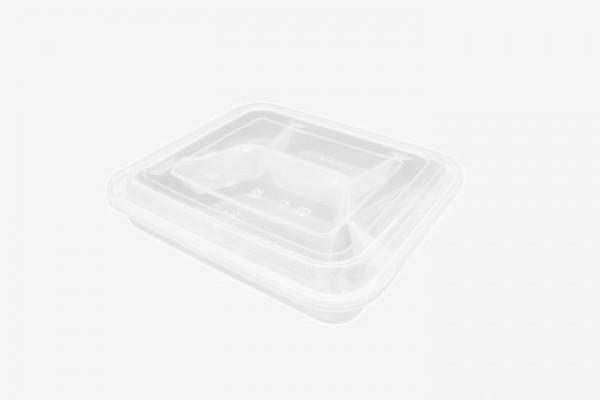 PP4G 塑料微波盒方四格带盖 150只