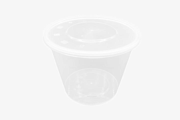 PP2000G 塑料透明微波圆盒带盖 200只